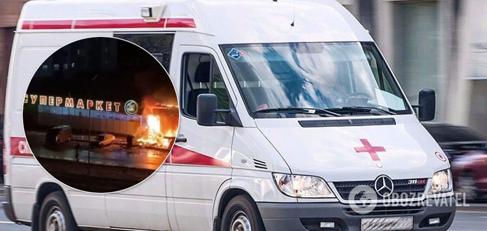 В Краснодаре после взрыва загорелся супермаркет, есть погибший. Момент ЧП попал на видео