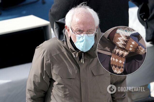 Сандерс пришел на инаугурацию Байдена в необычных рукавичках и стал героем мемов