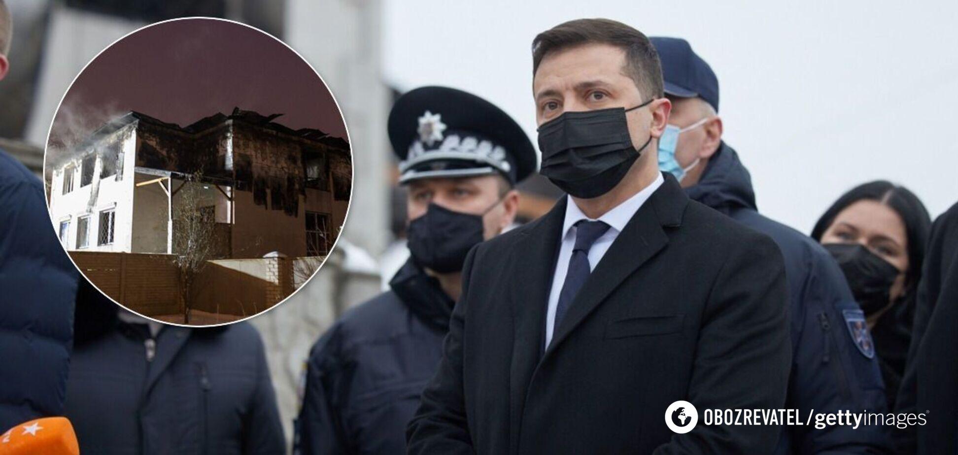 Зеленский – о пожаре в Харькове: не понимаю тех, кто сдает родителей в такие заведения