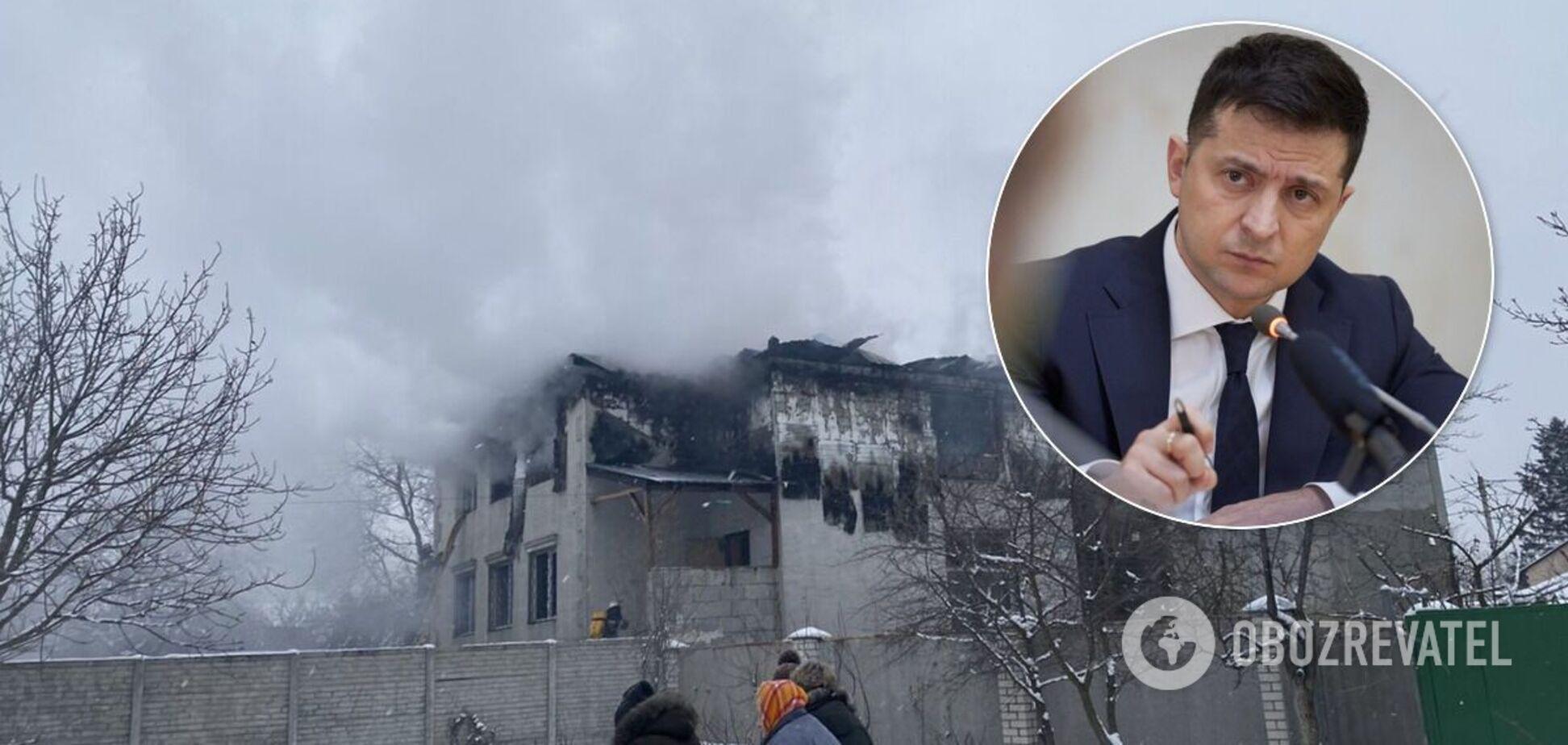Зеленский провел совещание из-за пожара в Харькове