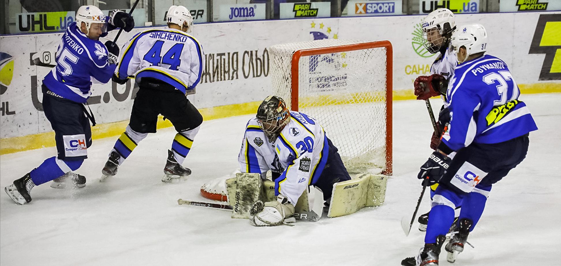 'Сокіл' в суху обіграв 'Дніпро' і продовжив боротьбу за перше місце в УХЛ