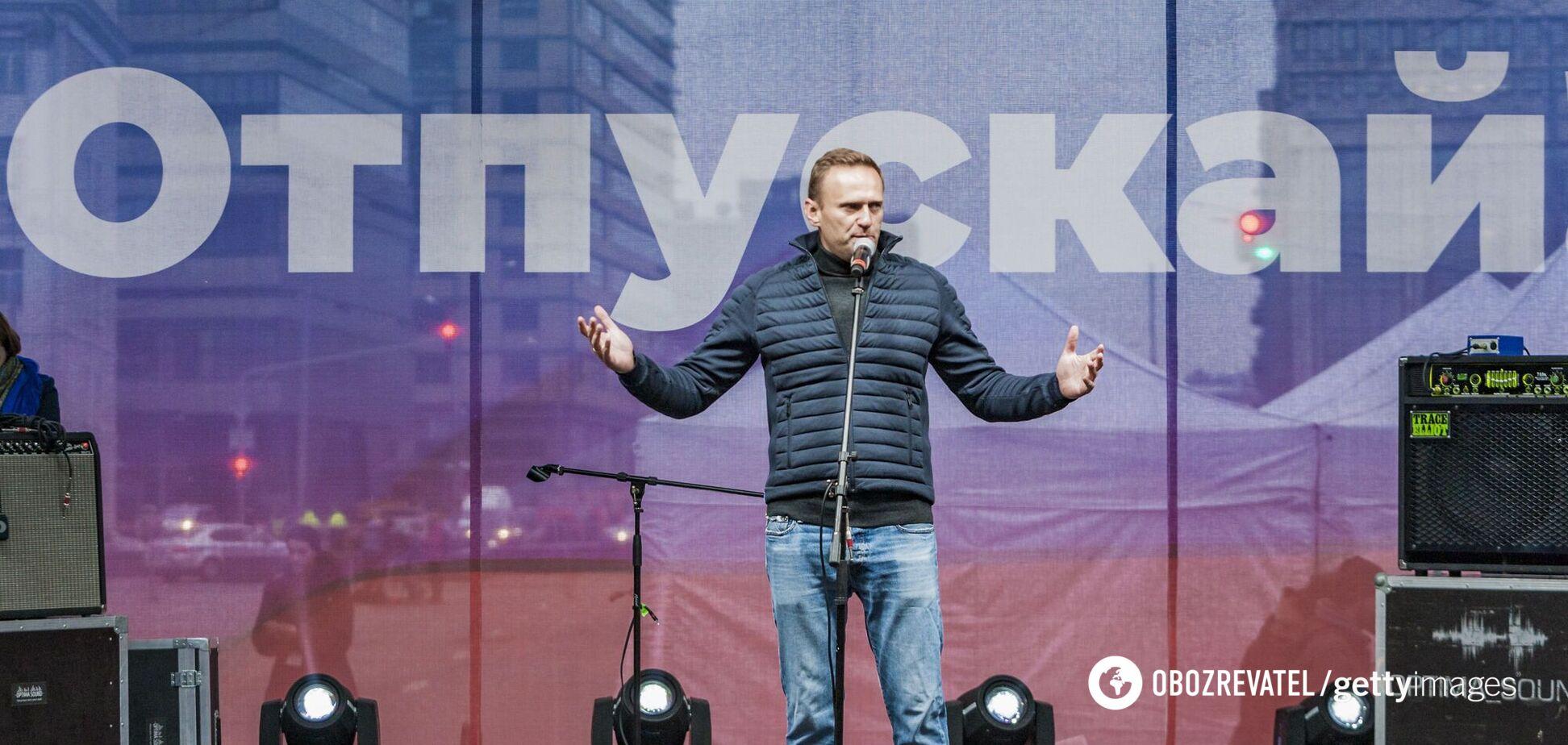 Российский оппозиционер Алексей Навальный на одном из митинге в сентябре 2019 года