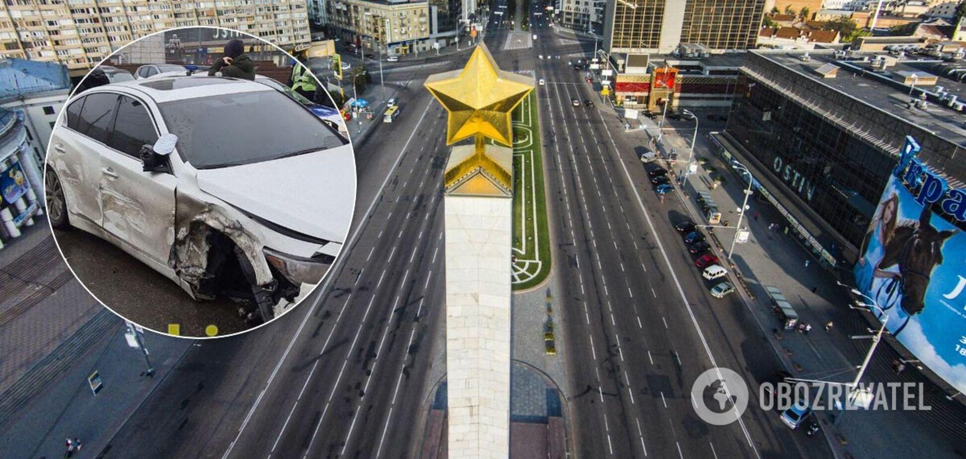 Масштабное ДТП на площади Победы в Киеве