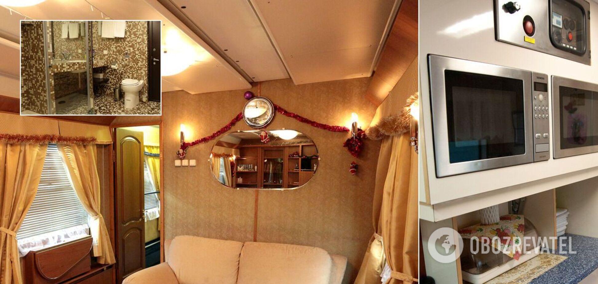 С душем, плазмой и большими кроватями: как выглядят элитные вагоны 'Укрзалізниці'. Фото