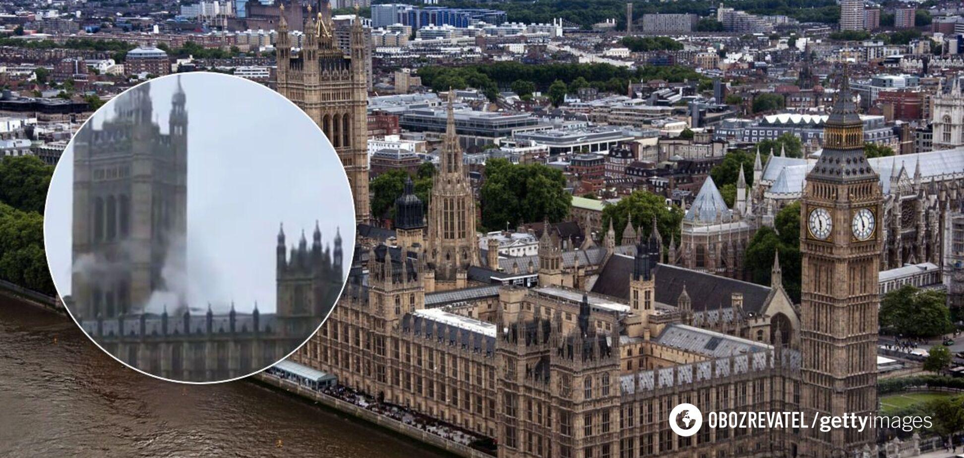 В Лондоне в здании парламента Британии сработала 'пожарка': над дворцом поднялся дым