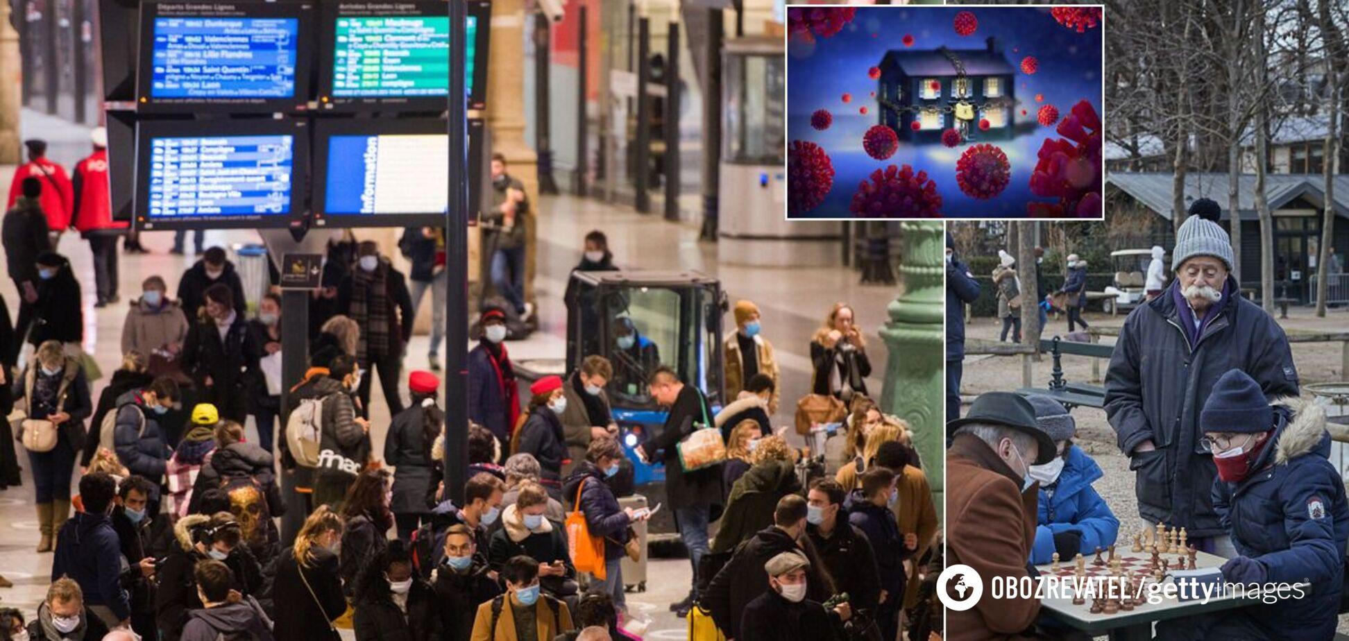 Франція задумала ввести третій локдаун, а Британія – посилити контроль за туристами