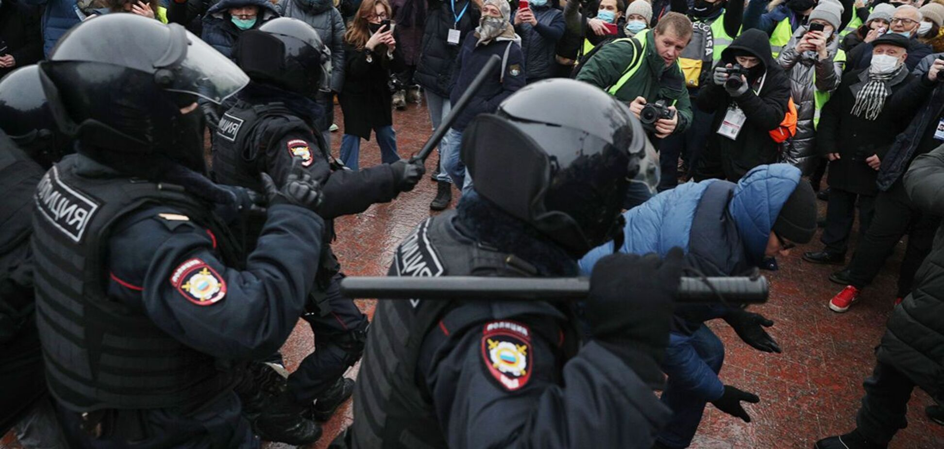 23 січня в Росії пройшли масштабні протести на підтримку Олексія Навального