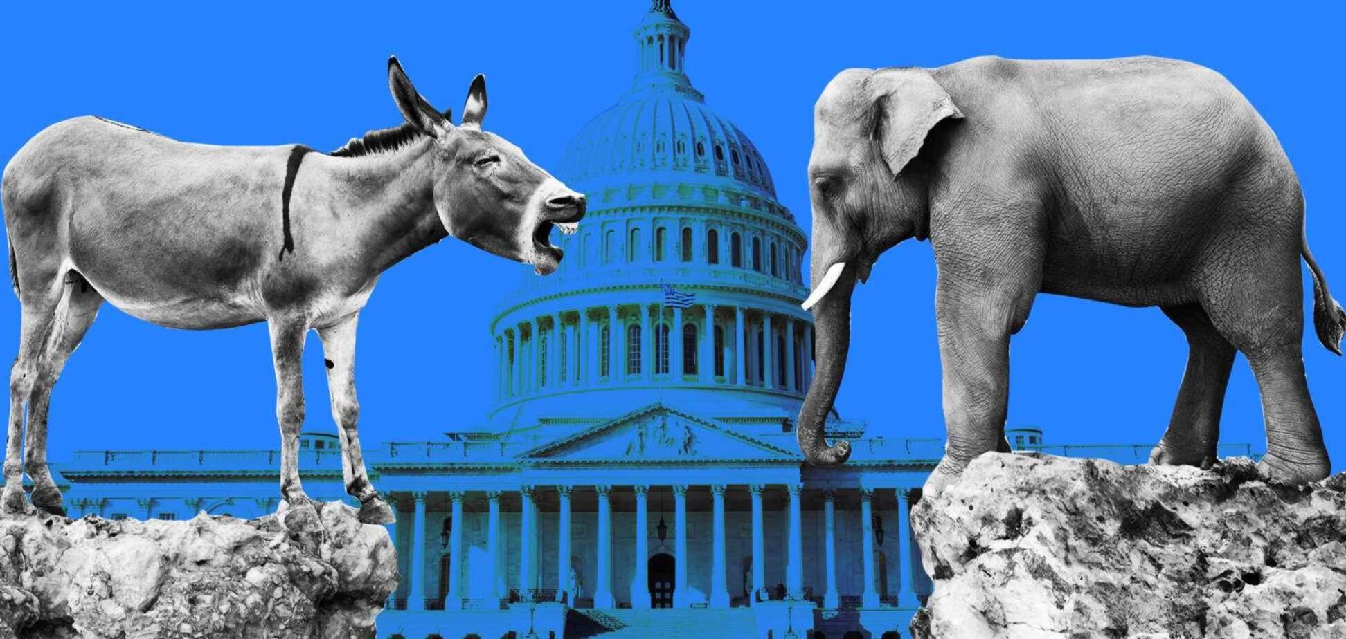 США: 'слони' і 'віслюки' - хто частіше, хто на купюрах...