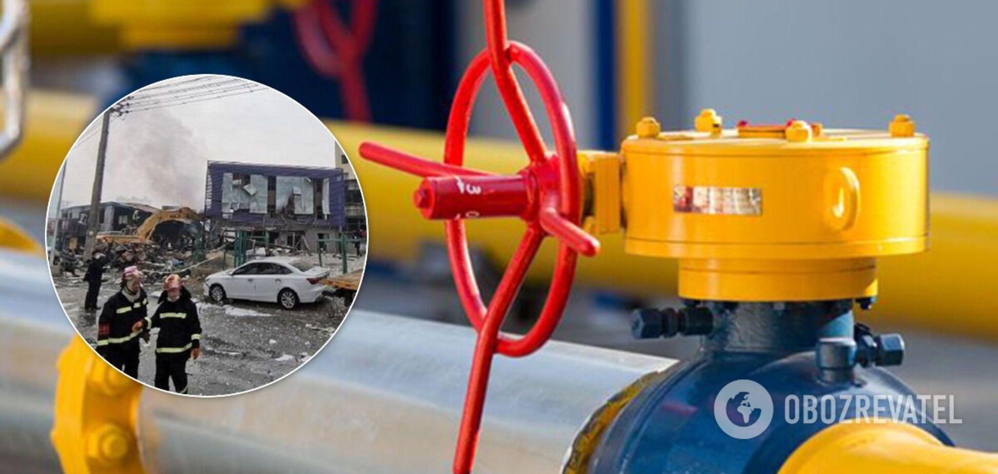 В Китае взорвался газопровод