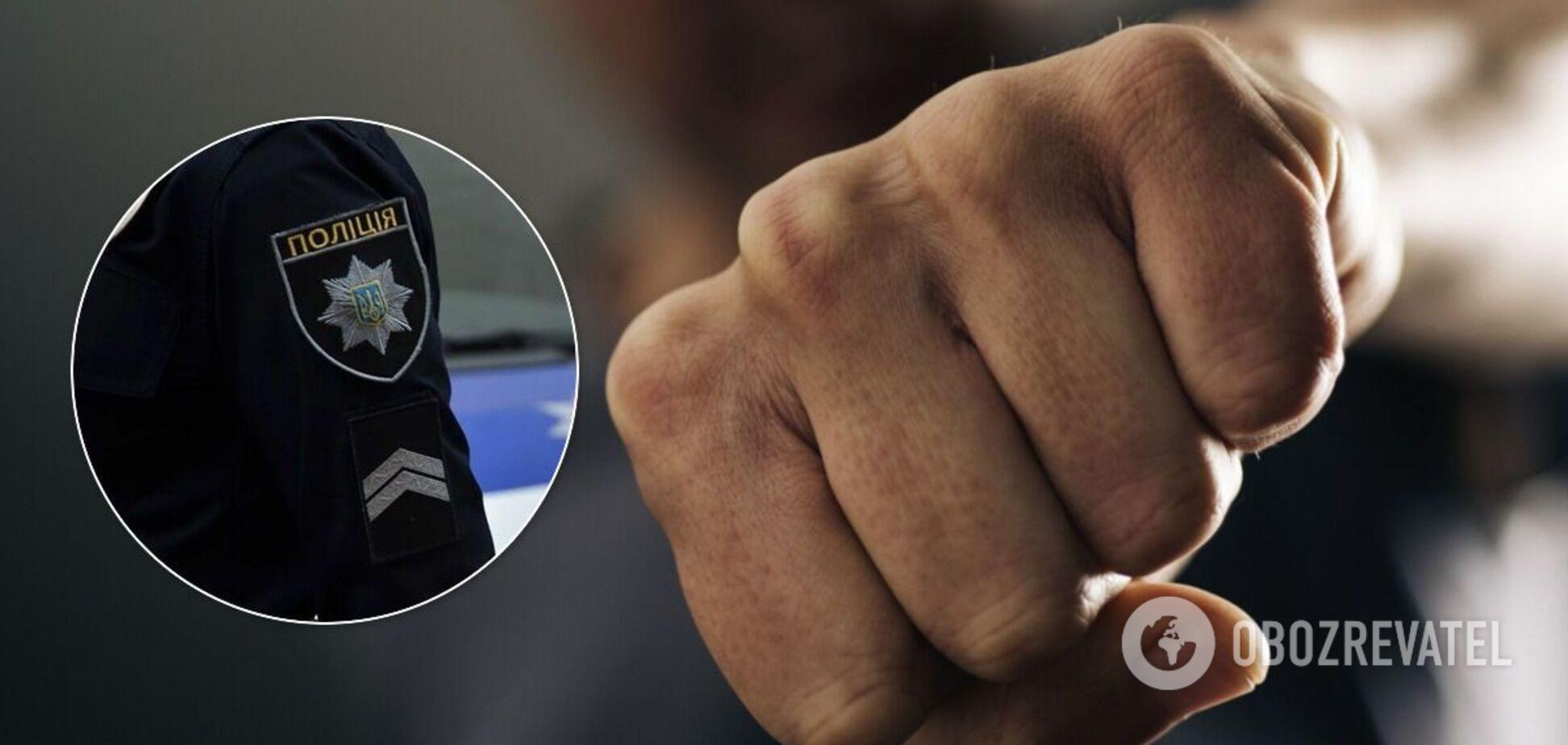 38-річного мешканця Луцька затримали за напад на поліцейського