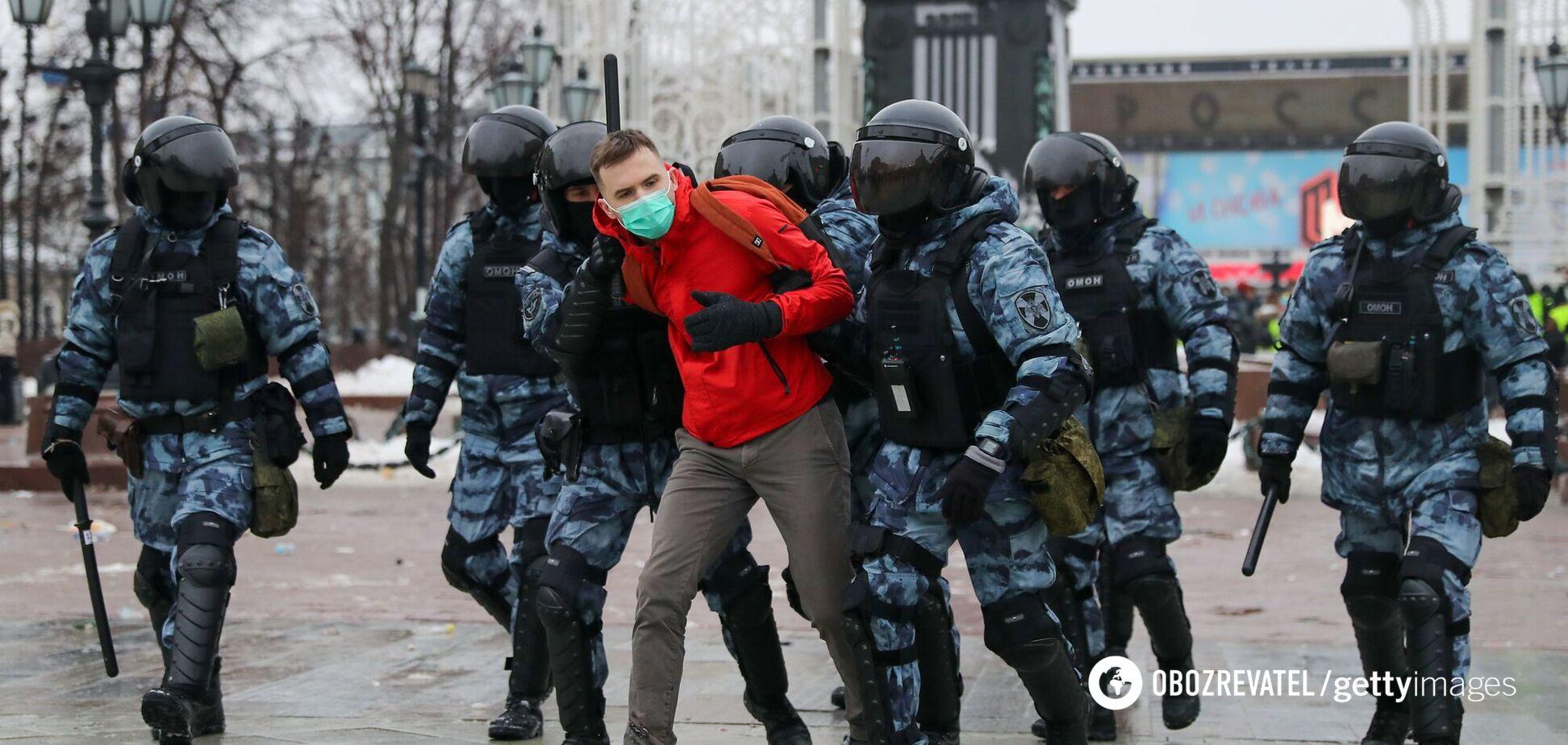 Задержание на акции протестов в России