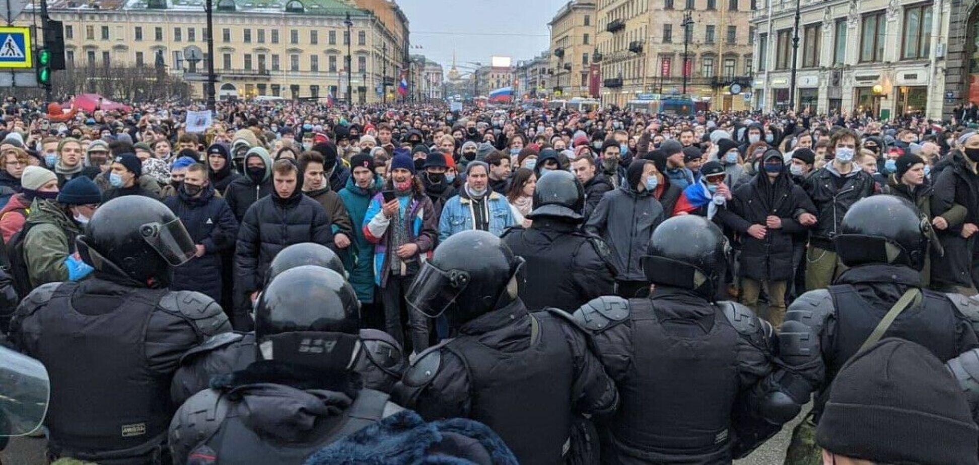 В России 23 января прошли масштабные протесты