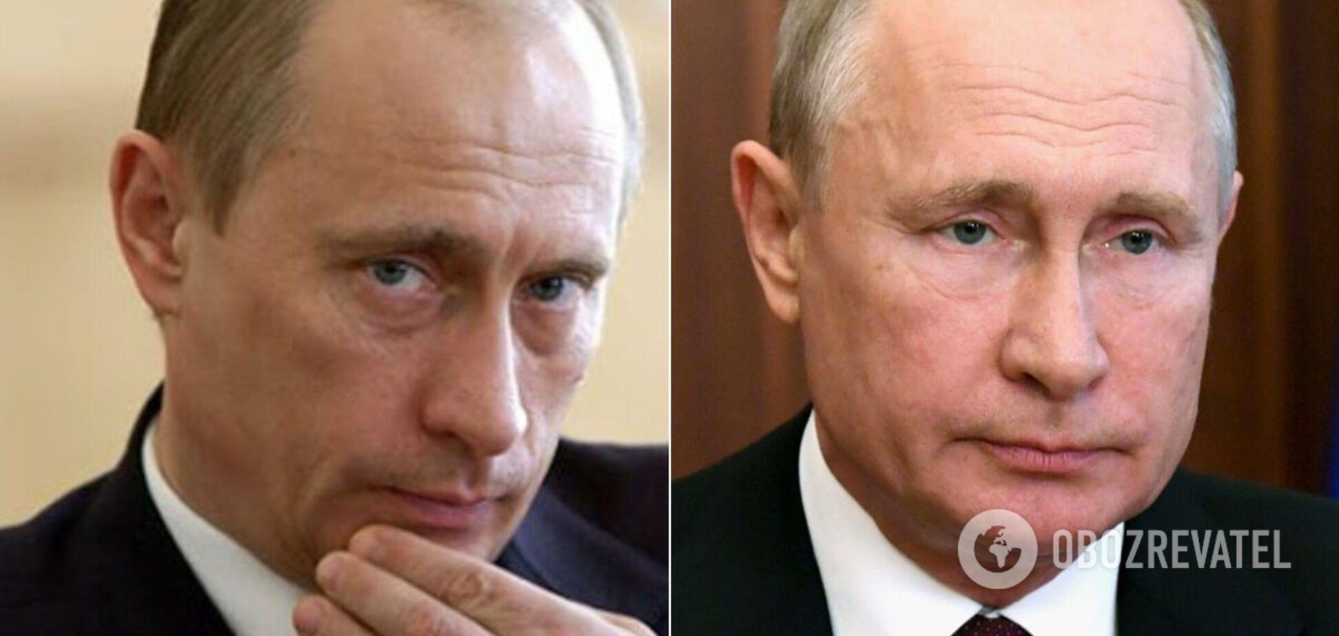 Владимир Путин в 2007 и 2021 годах