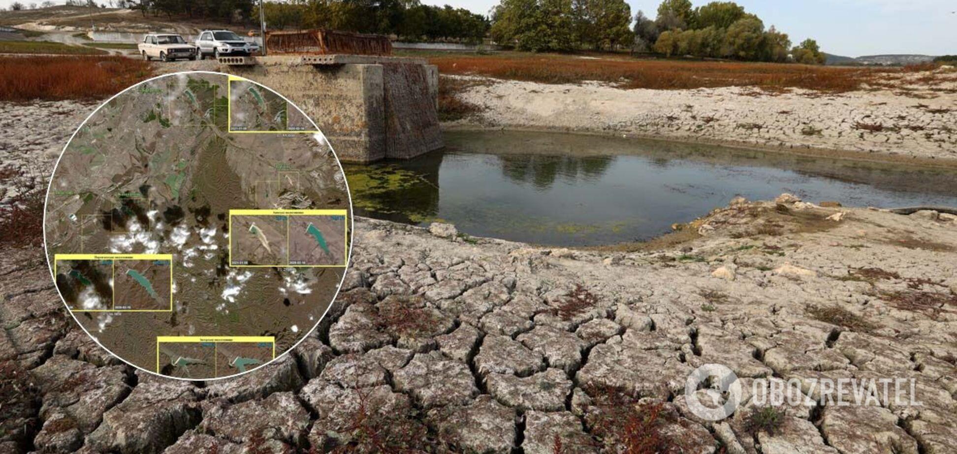 Уровень воды в водохранилищах Крыма проанализировали со спутника