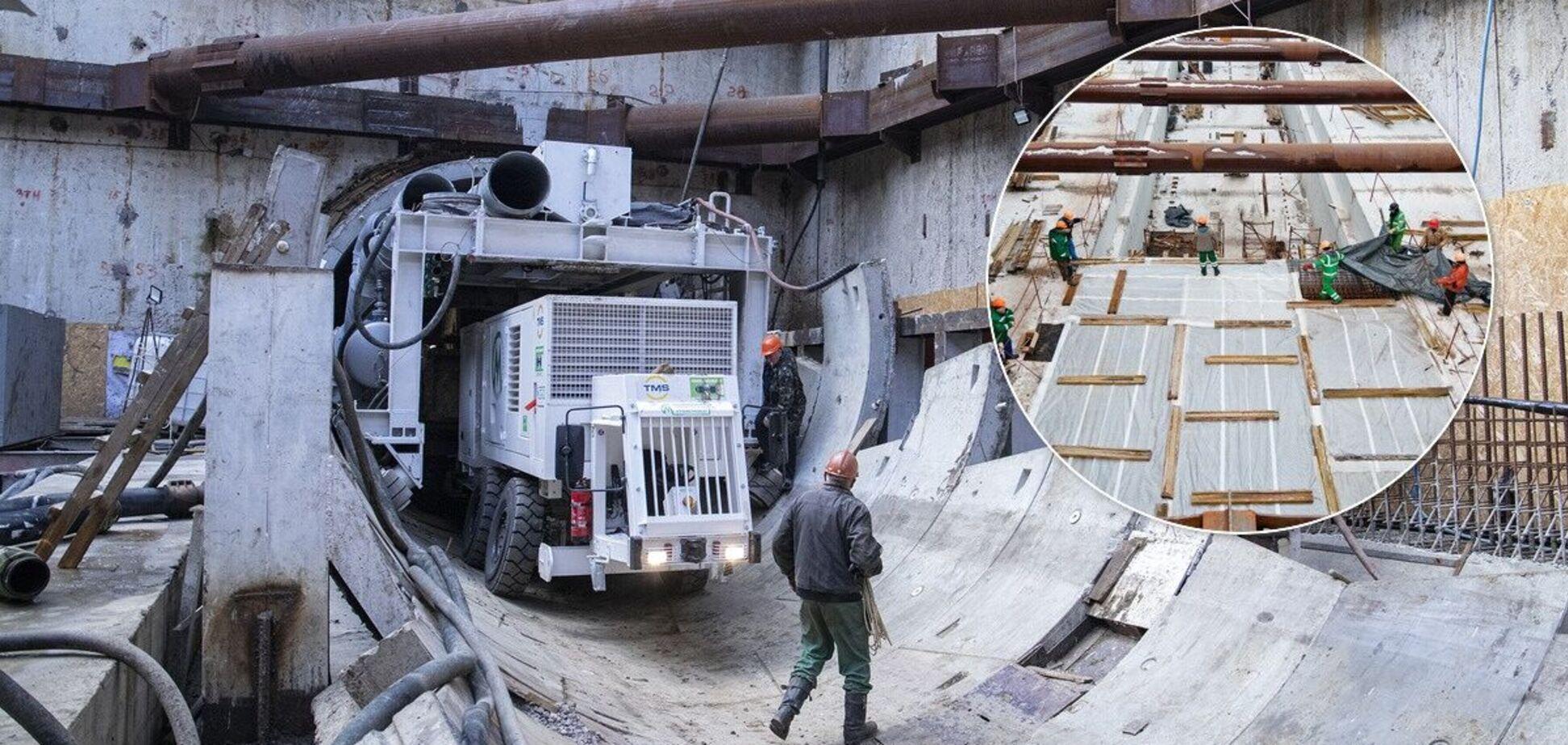 Продолжается строительство станции 'Мостицкая'