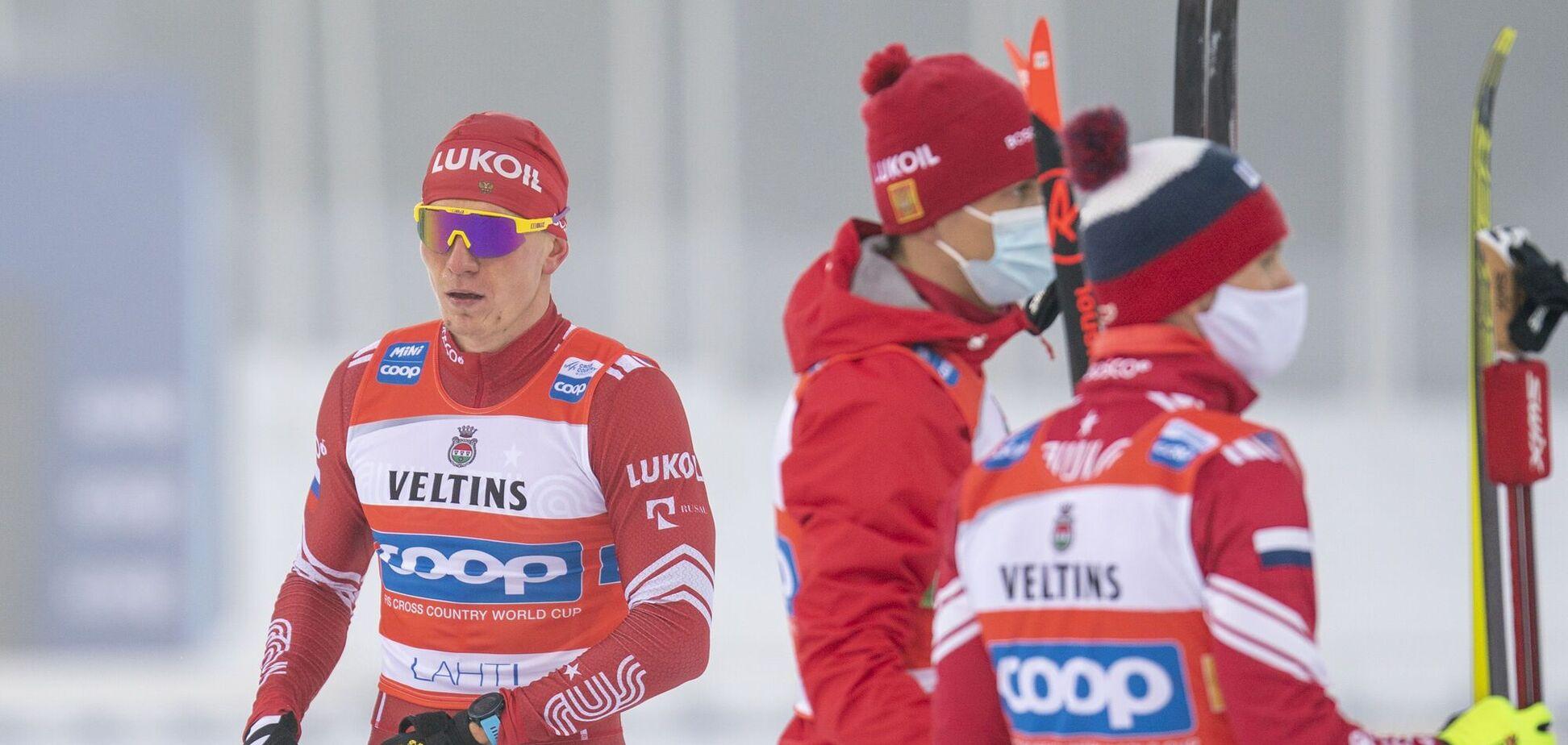Олександр Большунов (зліва)