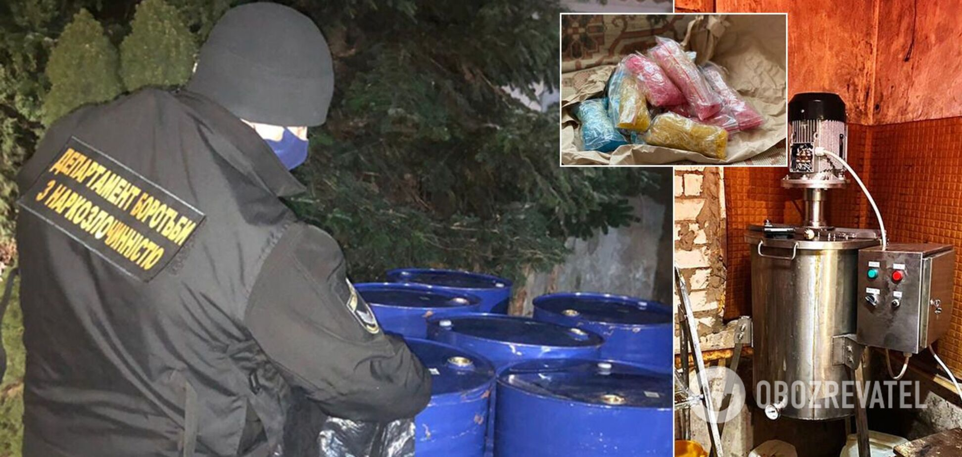 На Харківщині вилучили тонни наркотиків на понад 120 млн грн. Фото і відео