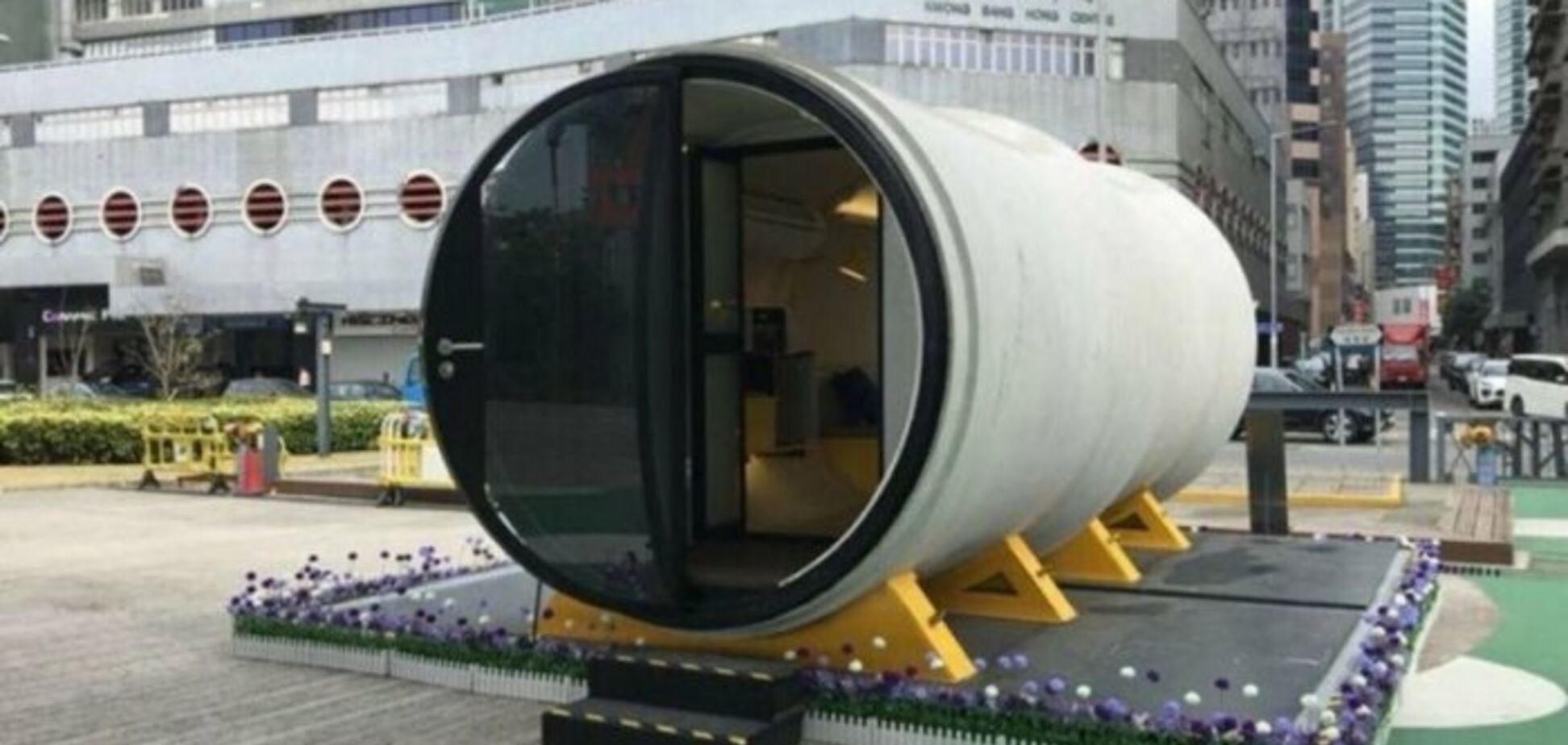 Дом в трубе: изобретатель из Гонконга предложил вариант оригинального и дешевого жилья. Фото