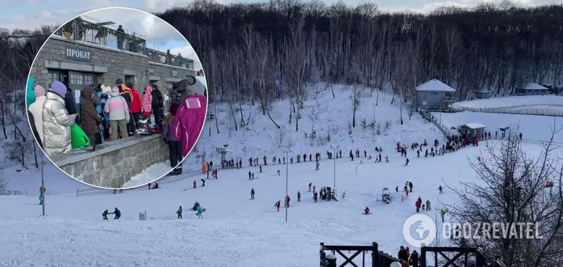 Українці без масок штурмували лижні 'курорти' під Києвом. Фото і відео