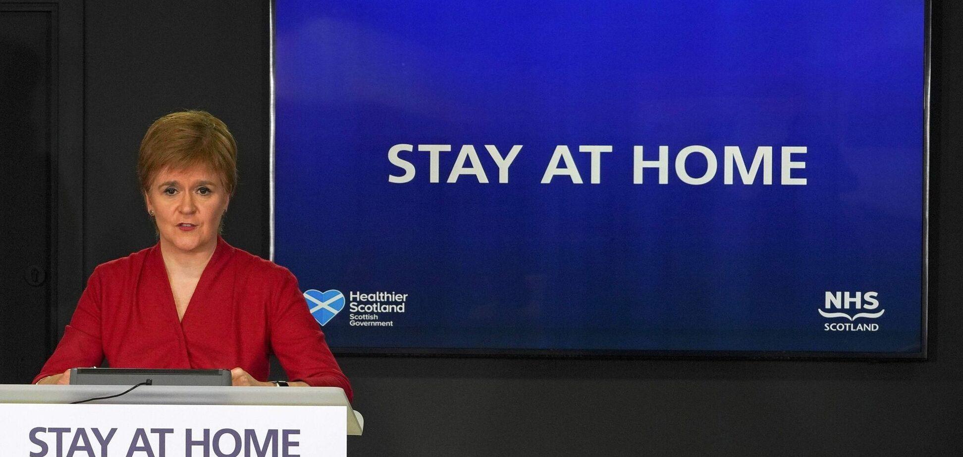 Нікола Стерджен оголосила про локдаун у Шотландії