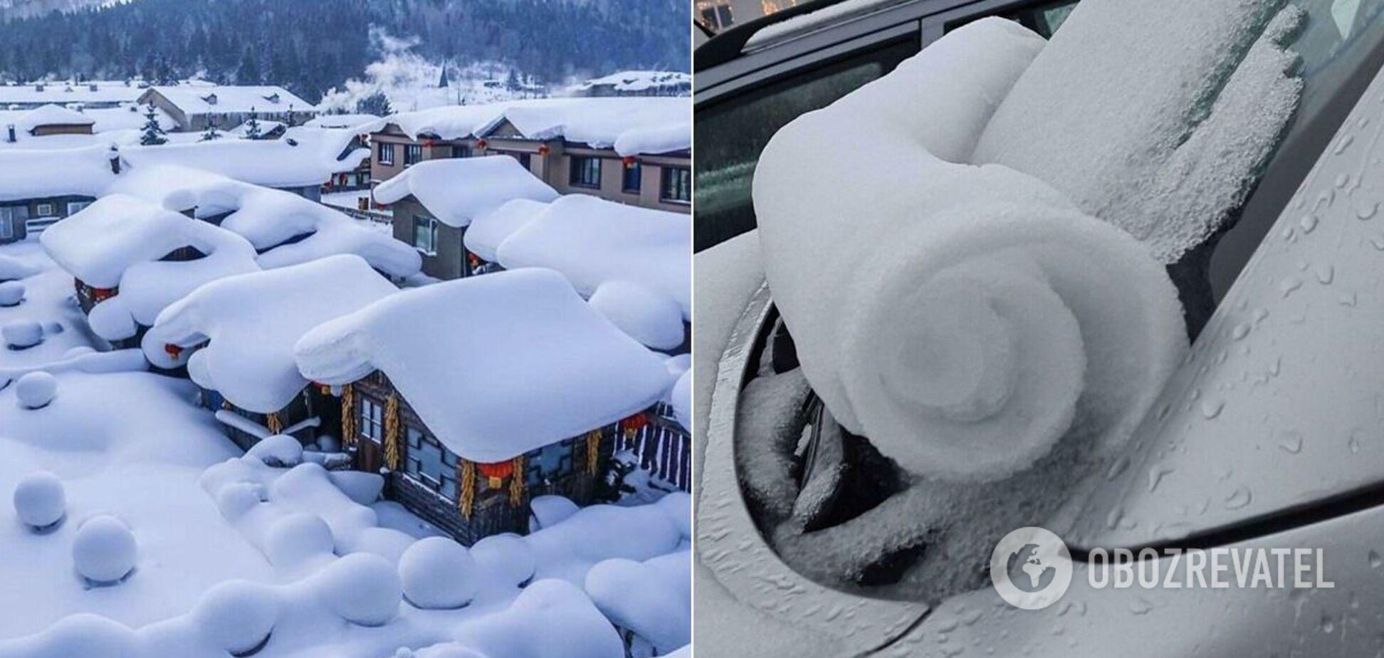 Природа удивляет причудливыми творениями из снега