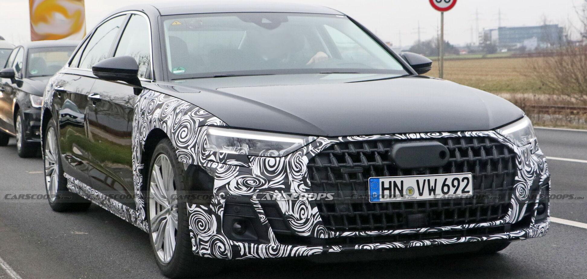 Новий Audi A8 потрапив в об'єктиви фотошпигунів у Німеччині