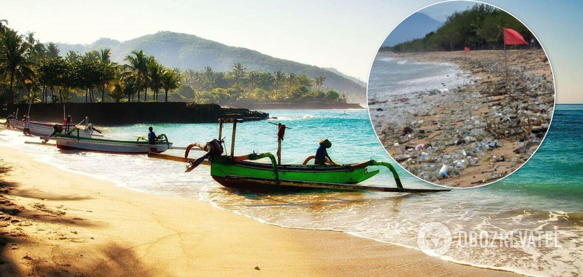 Пляж на Бали завален тоннами мусора