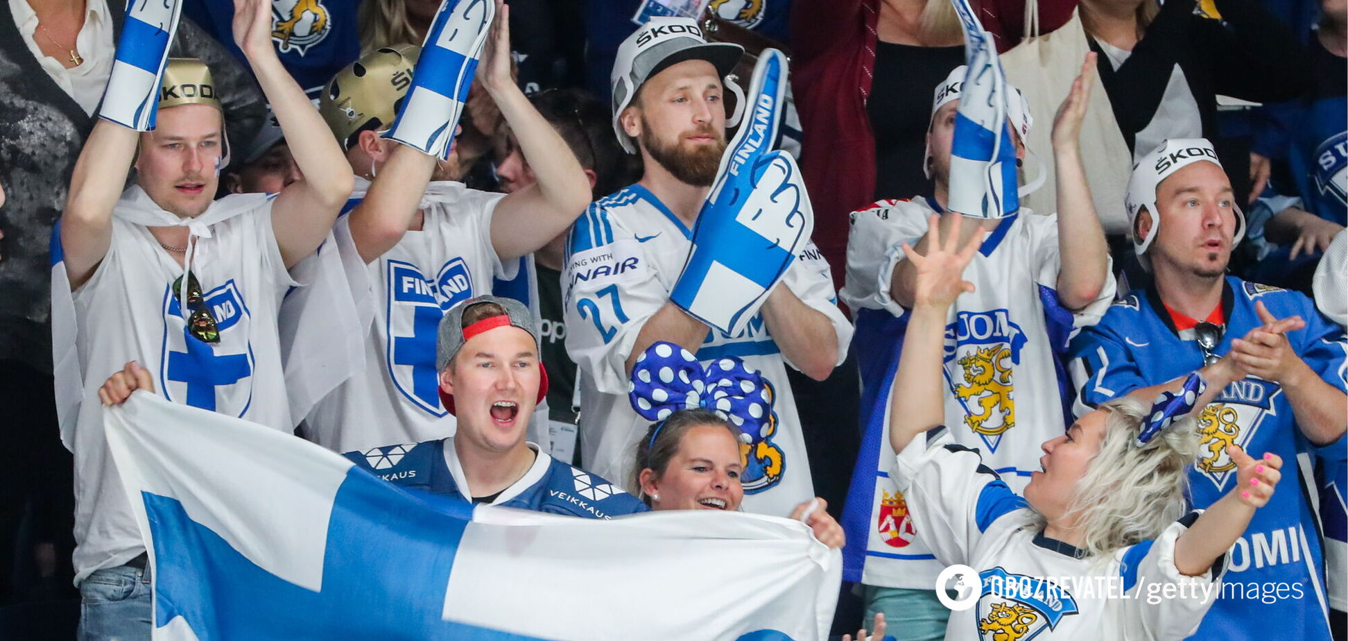 Фанати збірної Фінляндії