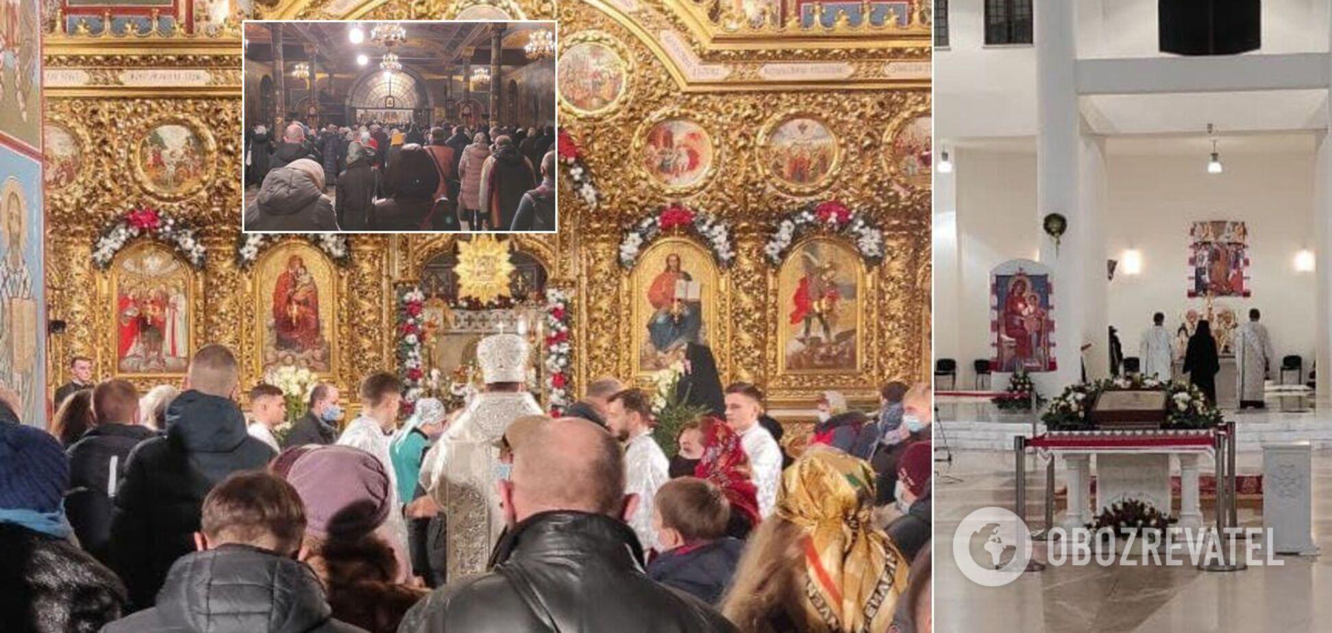 Рождественские богослужения в церквях Киева