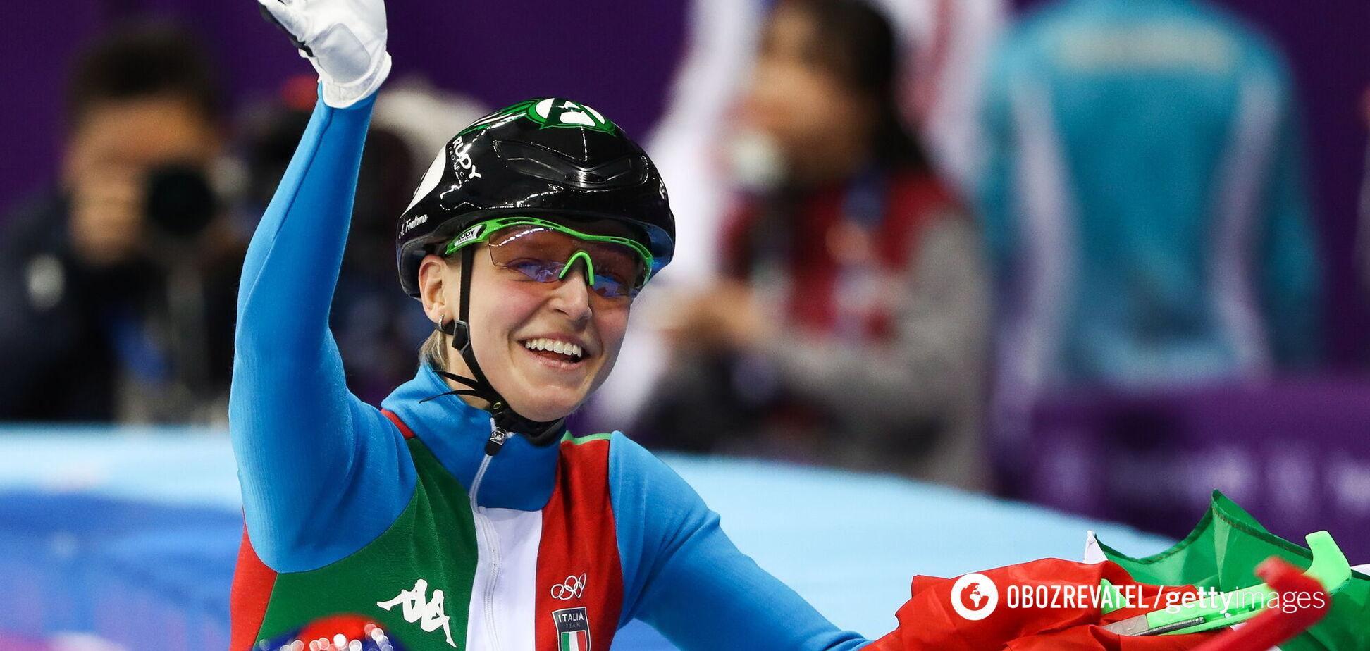 Итальянская спортсменка на ОИ-2018