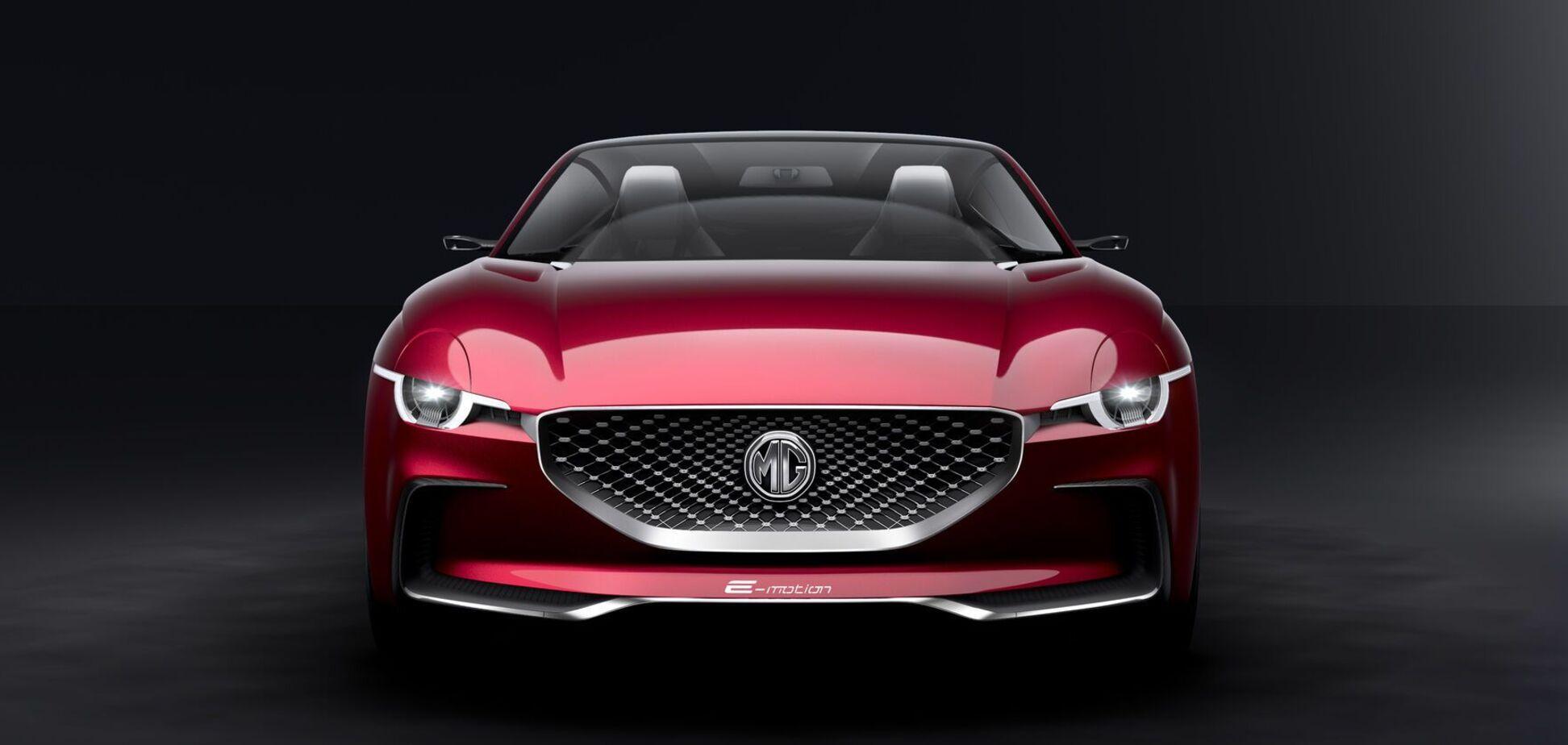 Британская MG показала свой первый спортивный электромобиль