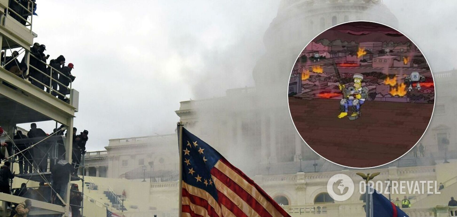 'Симпсоны' предсказали беспорядки в США