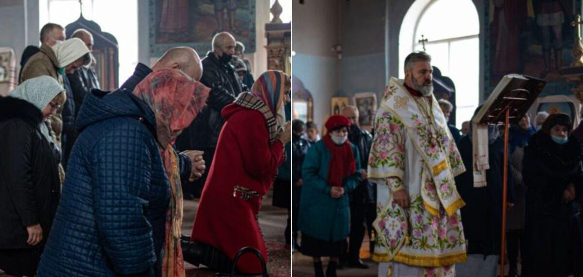 В Крыму провели рождественское богослужение и помолились за украинцев. Фото
