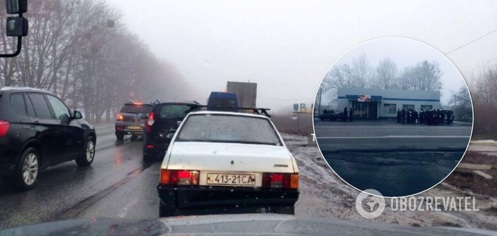 Трассу 'Киев-Харьков' перекрыли протестующие. Видео