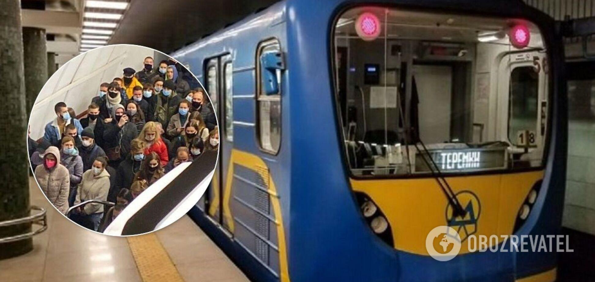 У Києві зупинився рух метро: чоловік потрапив під потяг і вижив
