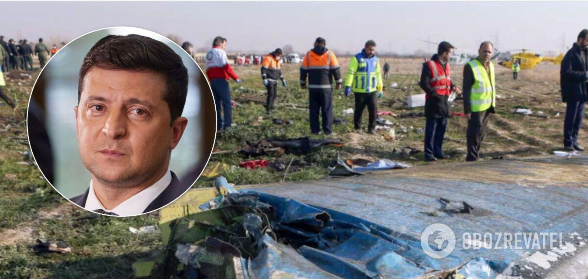 Зеленський пообіцяв притягнути до відповідальності винних за збитий літак в Ірані