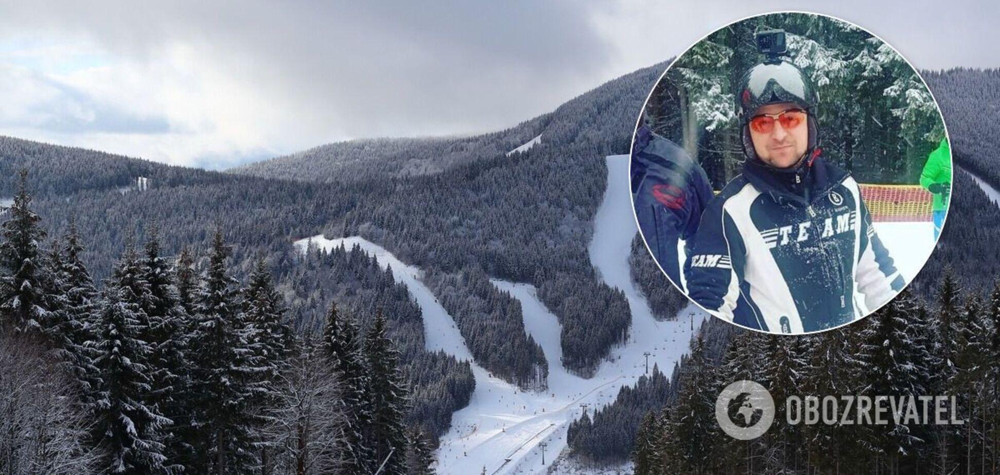 Володимир Зеленський на лижах