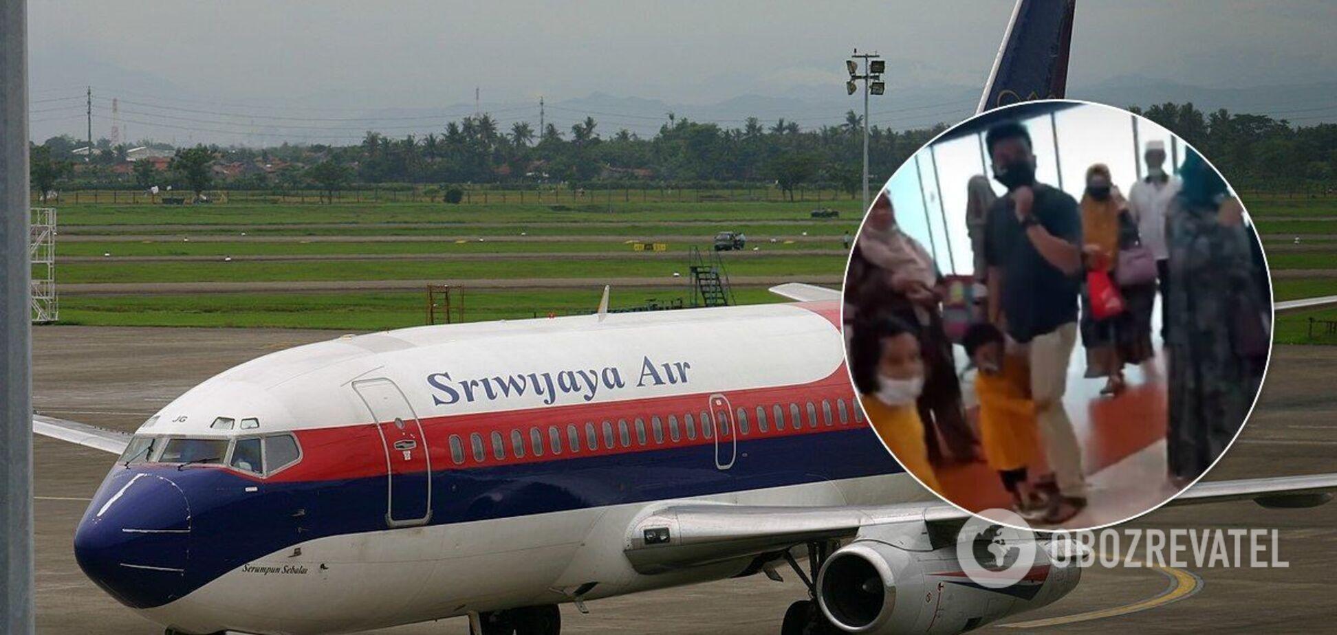 В Індонезії впав Boeing: у мережу потрапило відео з пасажирами перед посадкою