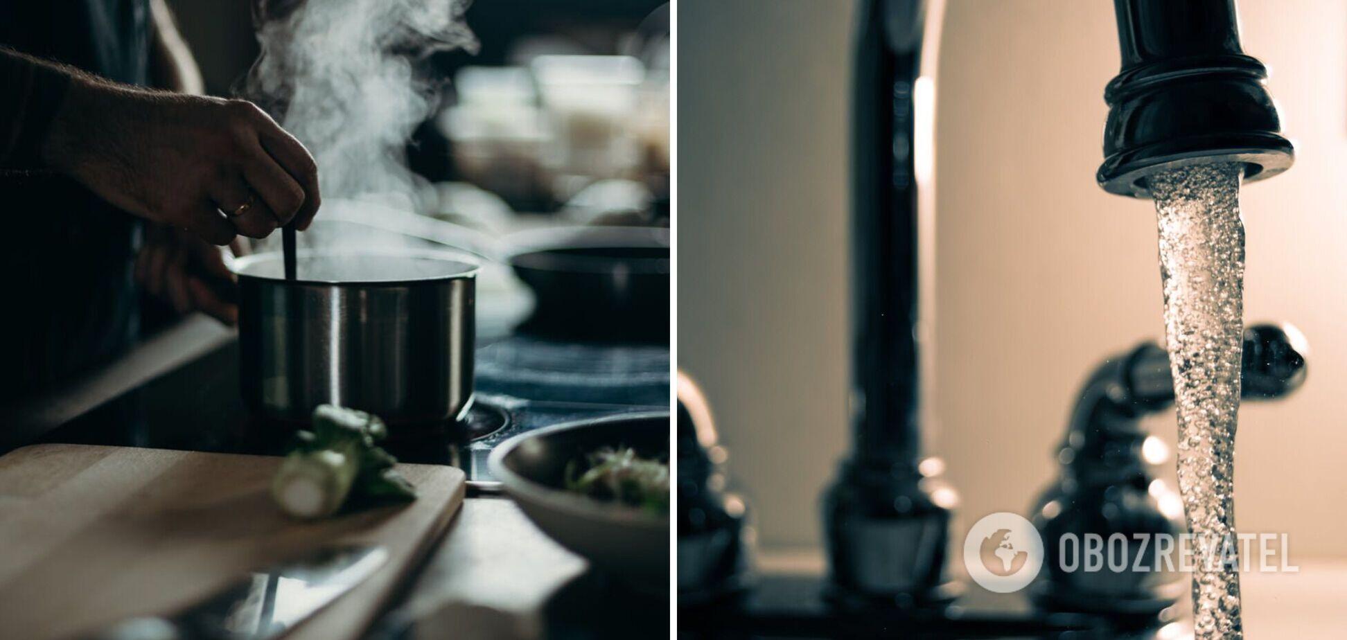 Чому не можна готувати страви на гарячій воді з крану