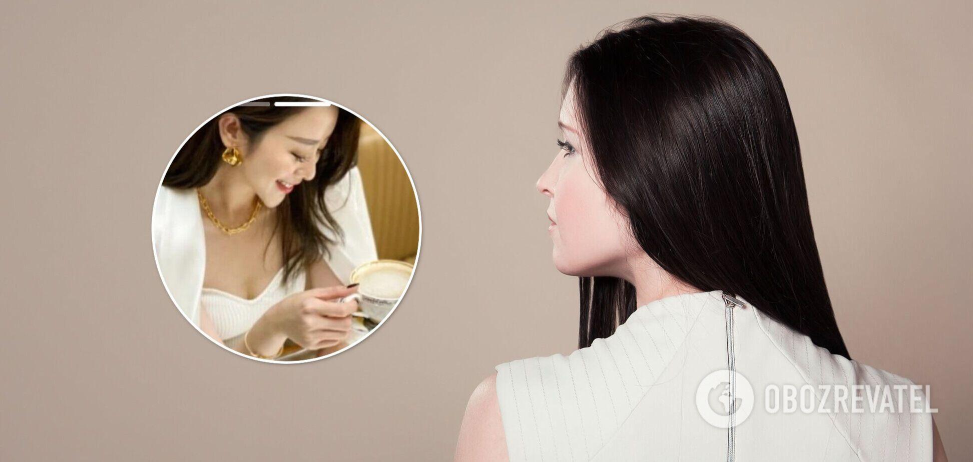 Дівчина спантеличила мережу волоссям між ніг. Фото оптичної ілюзії
