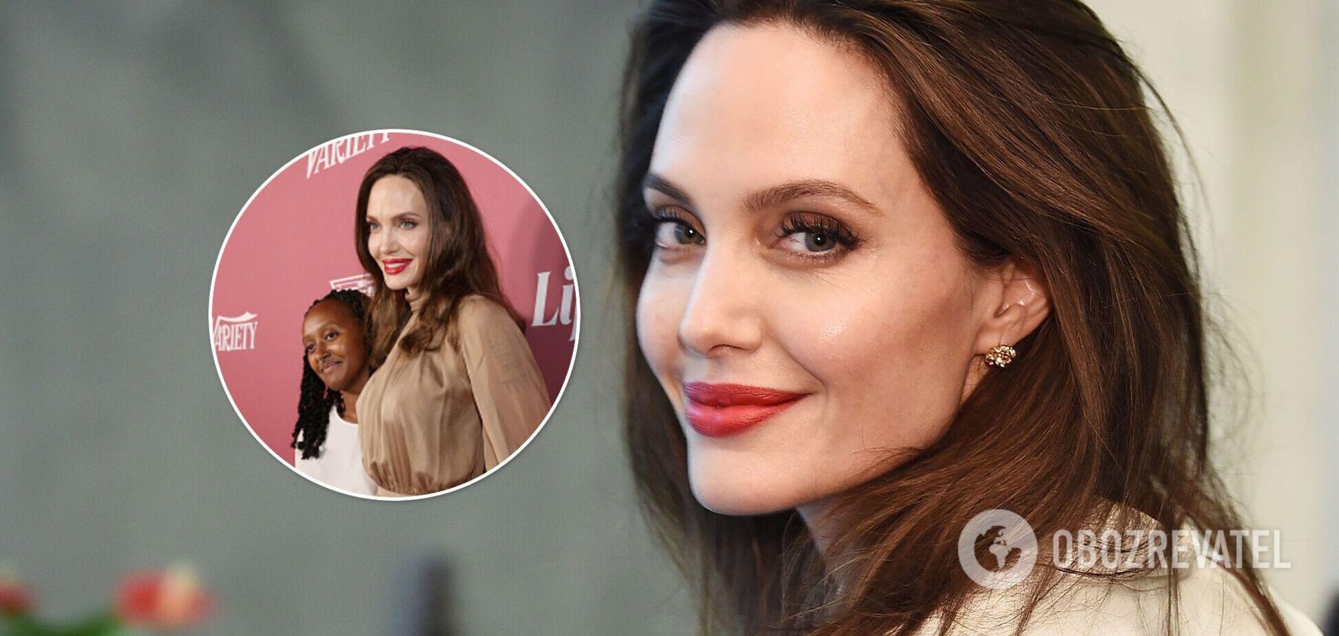Анджеліна Джолі в елегантному образі пройшлася по червоній доріжці в Беверлі-Хілз. Фото