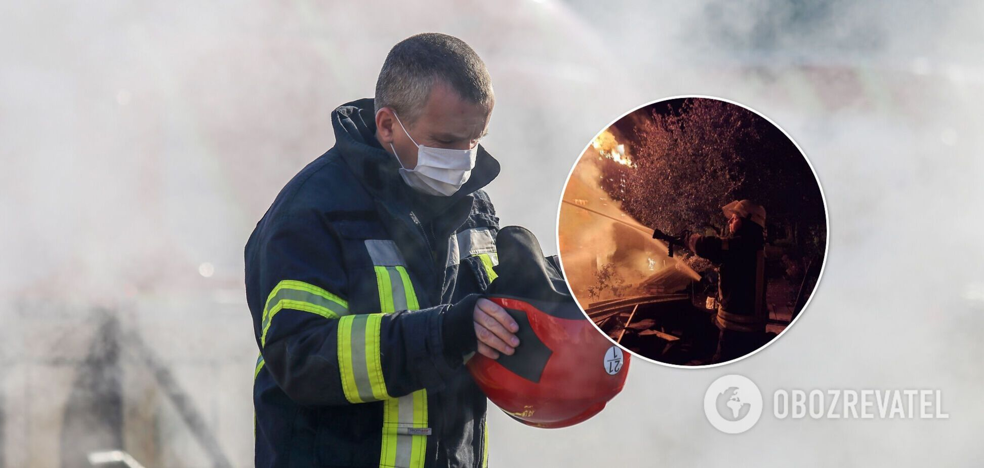 Під час гасіння рятувальники знайшли тіло чоловіка