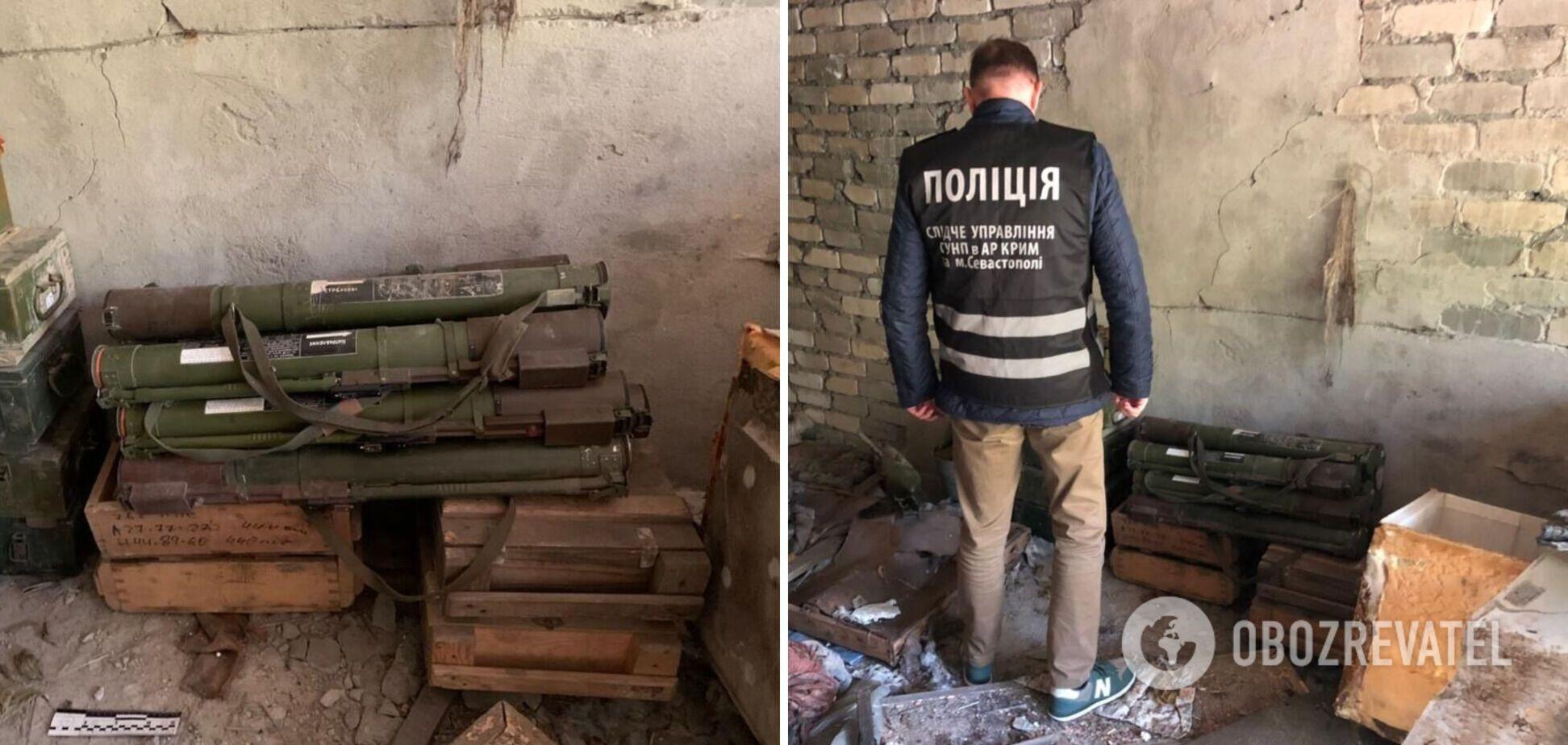 На Донбасі знайшли схованку зі зброєю з Криму