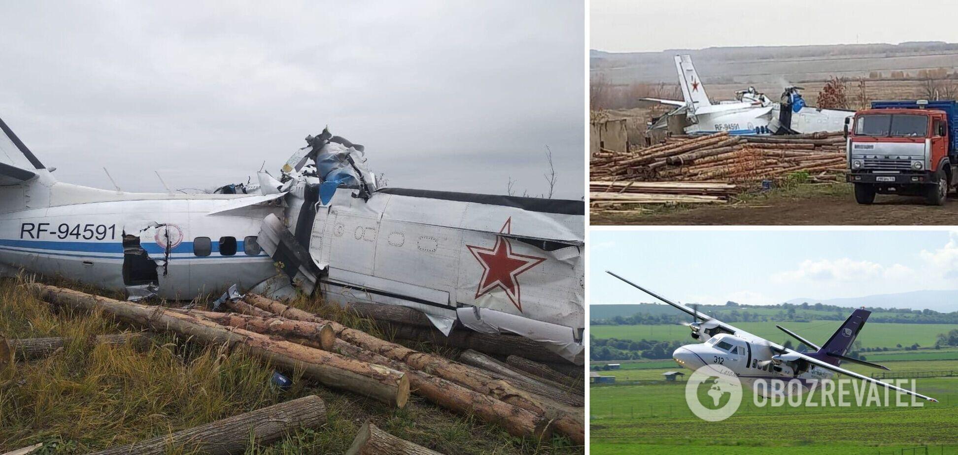 У Росії впав літак із парашутистами: багато загиблих. Фото з місця НП