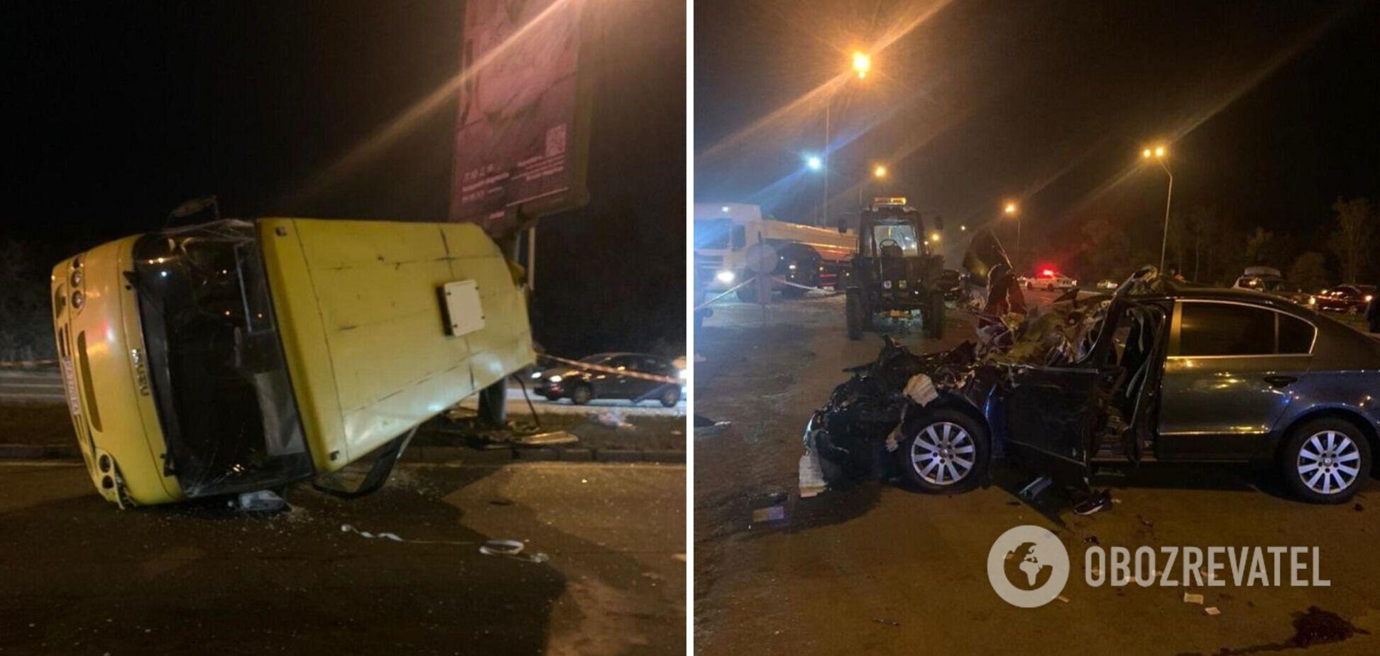 У поліції повідомили деталі ДТП з маршруткою у Києві. Фото