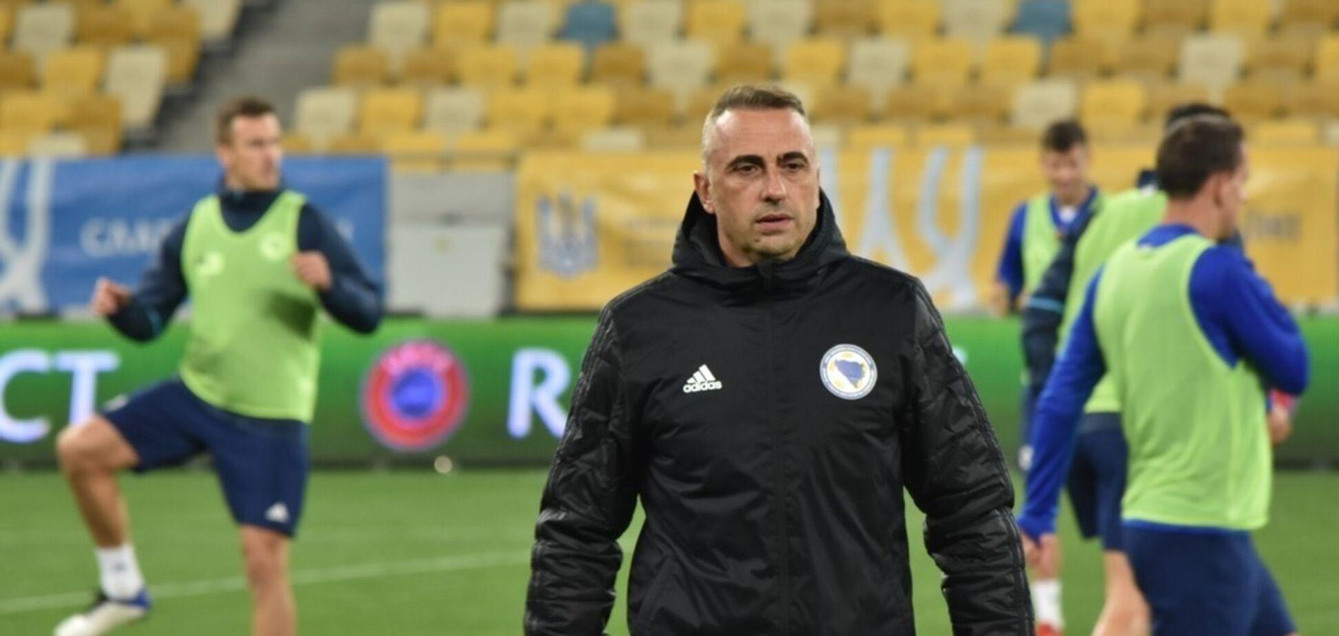 Тренер Боснії та Герцеговини висловився про матч з Україною у відборі ЧС-2022