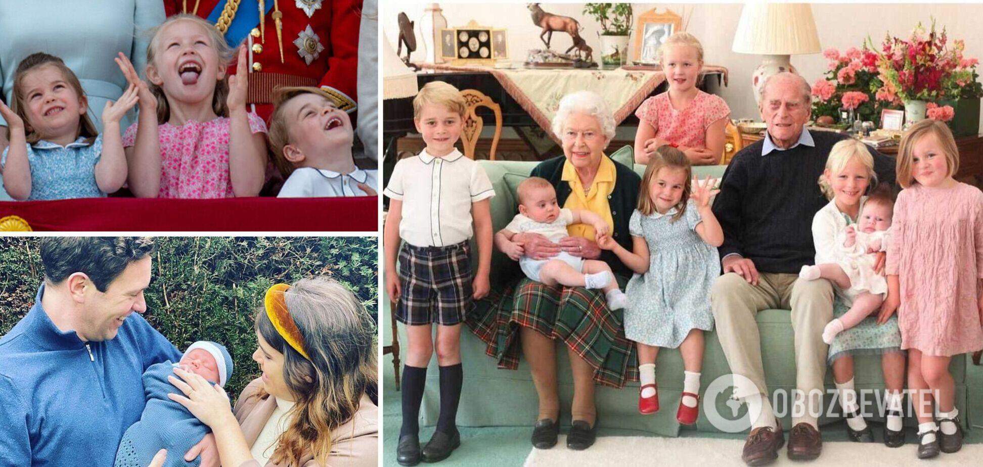 Елизавета II воспитывает 12 правнуков