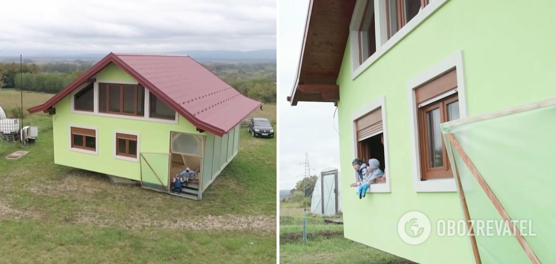 Чоловік побудував обертовий будинок заради дружини, яку не влаштовував краєвид із вікна. Відео