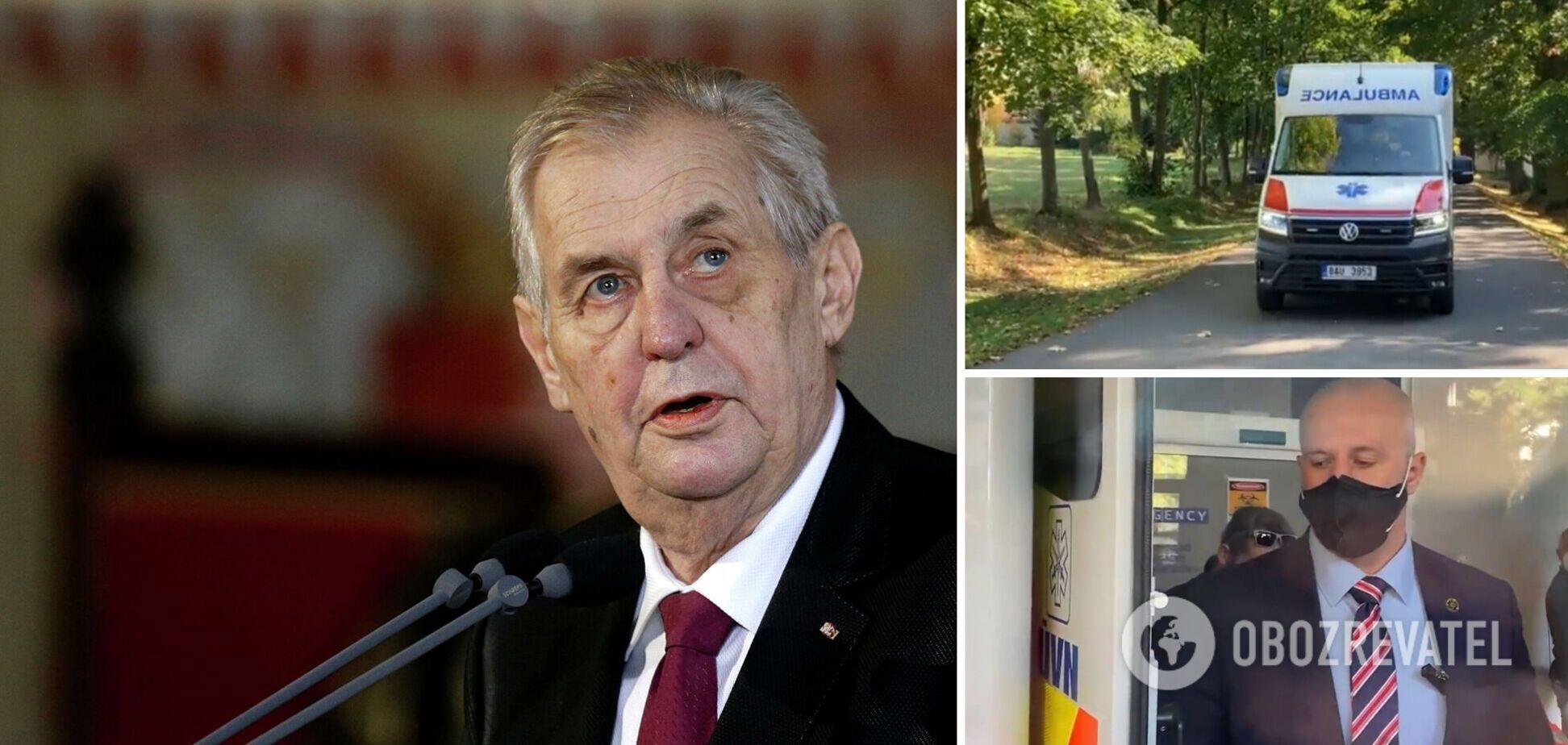 Президент Чехии попал в реанимацию: Сенат инициирует передачу полномочий главы страны. Видео