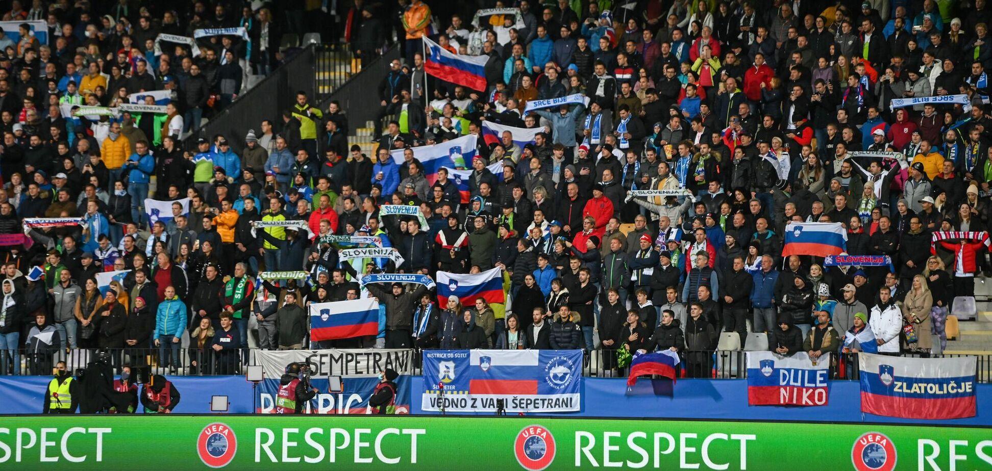 Фанатов сборной России по футболу побили в Словении